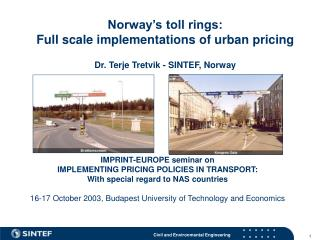 IMPRINT-EUROPE seminar on IMPLEMENTING PRICING POLICIES IN TRANSPORT:
