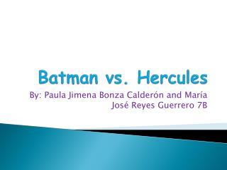 Batman vs.  Hercules