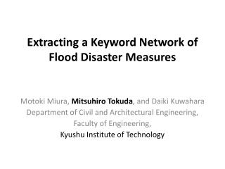 Extracting a Keyword Network of Flood Disaster Measures