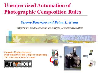 Unsupervised Automation of  Photographic Composition Rules
