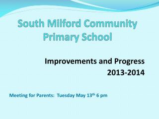 South Milford Community Primary School