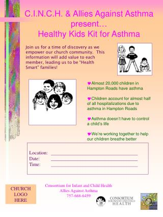 C.I.N.C.H. & Allies Against Asthma present… Healthy Kids Kit for Asthma