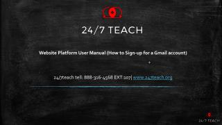 Website Platform User Manual (How to Sign-up for  a  G mail  account )