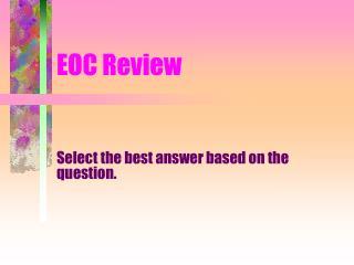 EOC Review