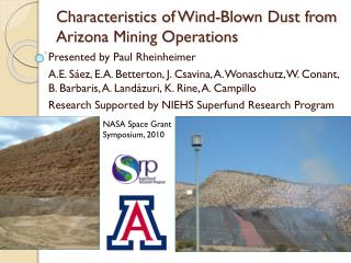 Characteristics of Wind-Blown  Dust from Arizona  Mining Operations