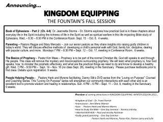 THE FOUNTAIN'S FALL SESSION