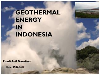 GEOTHERMAL ENERGY  IN  INDONESIA