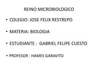 REINO MICROBIOLOGICO