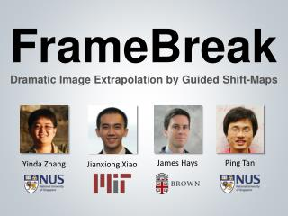 FrameBreak Dramatic  Image Extrapolation  by  Guided Shift-Maps