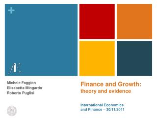 Finance and  Growth :  theory  and  evidence