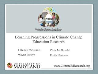 Learning Progressions in Climate Change Education Research