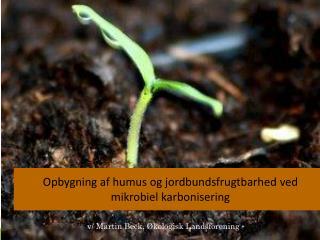 Opbygning af humus og jordbundsfrugtbarhed ved  mikrobiel karbonisering