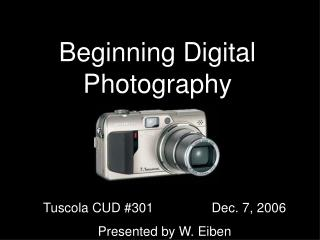 Beginning Digital Photography