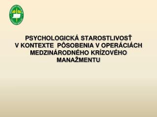 Historický kontext psychologických činností vo vojenstve