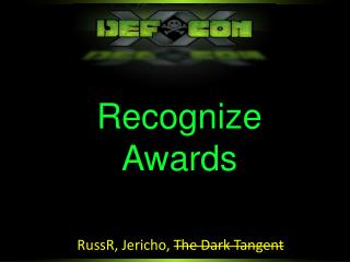 Recognize Awards
