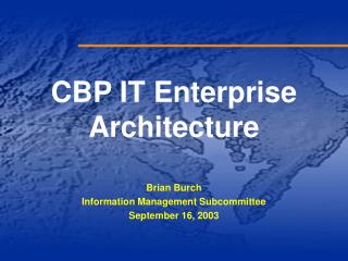 CBP IT Enterprise Architecture