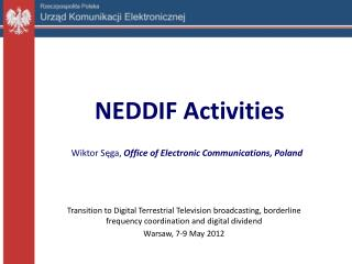NEDDIF Activities