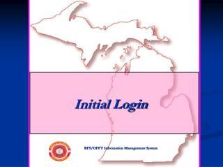 Initial Login