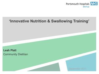 �Innovative Nutrition & Swallowing Training�