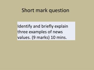 Short mark question