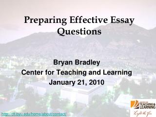 Preparing Effective Essay Questions