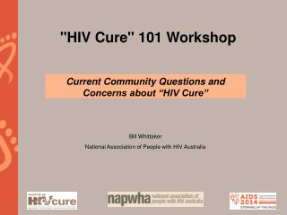 """HIV Cure"" 101 Workshop"