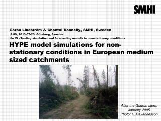 HYPE model simulations for non-stationary conditions in European medium sized catchments