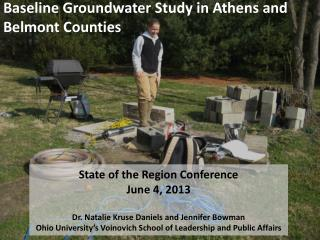 Baseline Groundwater Study in Athens  and Belmont Counties