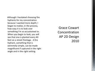 Grace Cowart Concentration AP 2D Design 2010
