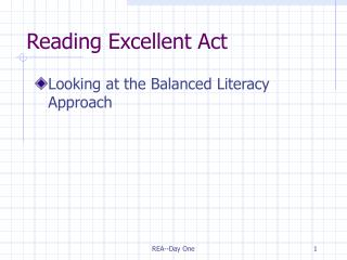 Reading Excellent Act