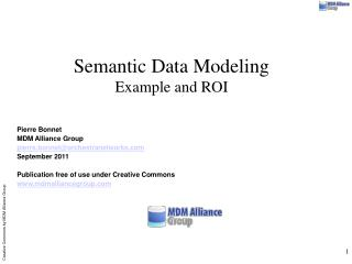 Semantic Data Modeling Example and ROI