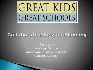 Collaborative Lesson Planning