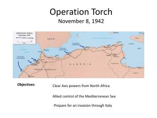 Operation Torch November 8, 1942