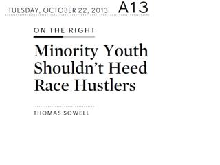 minority youth shouldnt heed race hustlers