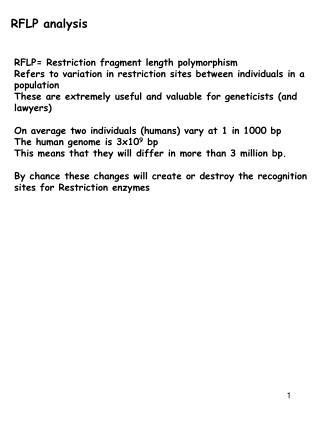RFLP analysis