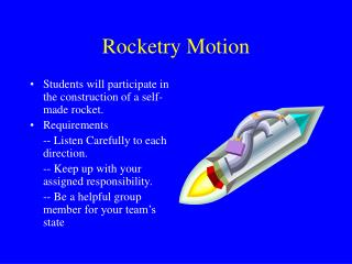 Rocketry Motion