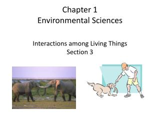 Chapter 1 Environmental Sciences