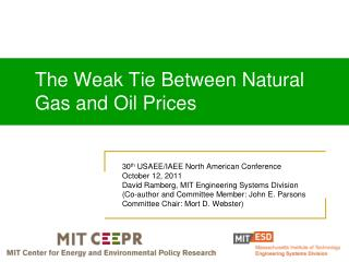 The Weak Tie Between Natural Gas and Oil Prices