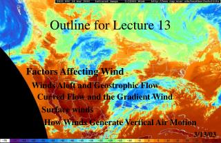 Outline for Lecture 13