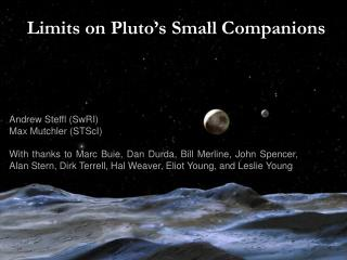 Limits on Pluto's Small Companions