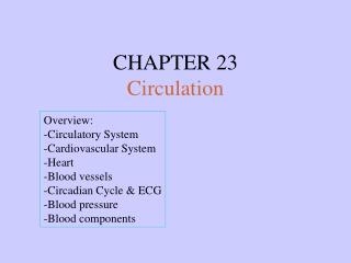CHAPTER 23 Circulation