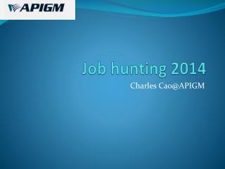 Job hunting 2014