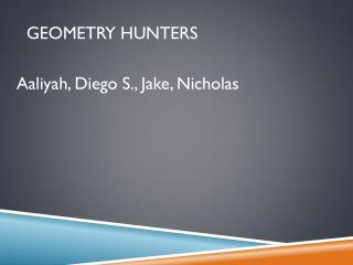 Geometry hunters