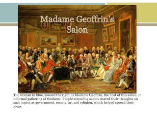 Madame  Geoffrin's  Salon