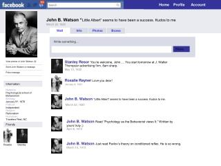 """John B. Watson """" Little Albert"""" seems to have been a success. Kudos to me March 22, 1920"""