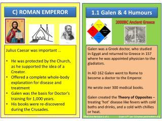 1.1 Galen & 4 Humours