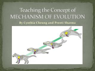 Teaching the Concept of MECHANISM OF EVOLUTION