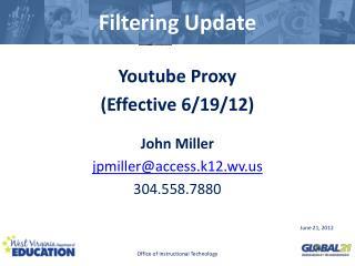 Filtering Update