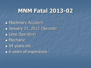 MNM Fatal 2013-02