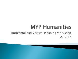 MYP Humanities
